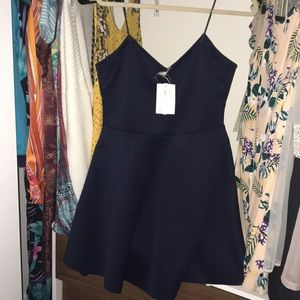 Navy blue NWT ASOS sweetheart dress